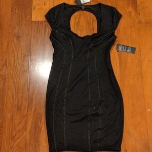 Guess solid black Claudia dress